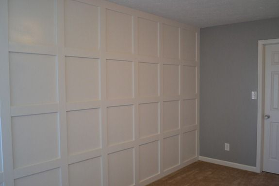 Feature wall grid moulding DIY tutorial.