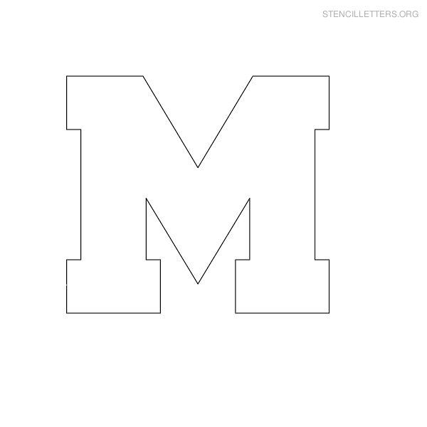 Free Printable Block Letter Stencils | Stencil Letters M Printable Free M Stencils | Stencil Letters Org