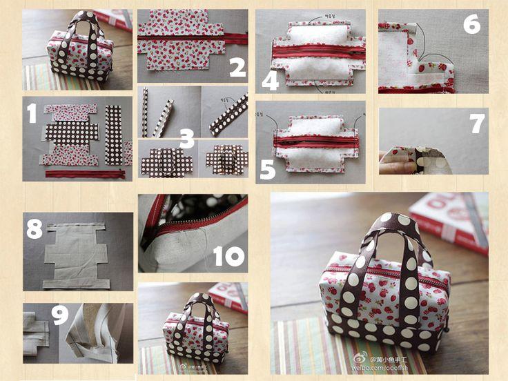 DIY Fabric Mini Tote | www.FabArtDIY.com