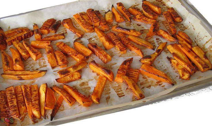 """Recette - Patates douces """"frites"""" au four"""