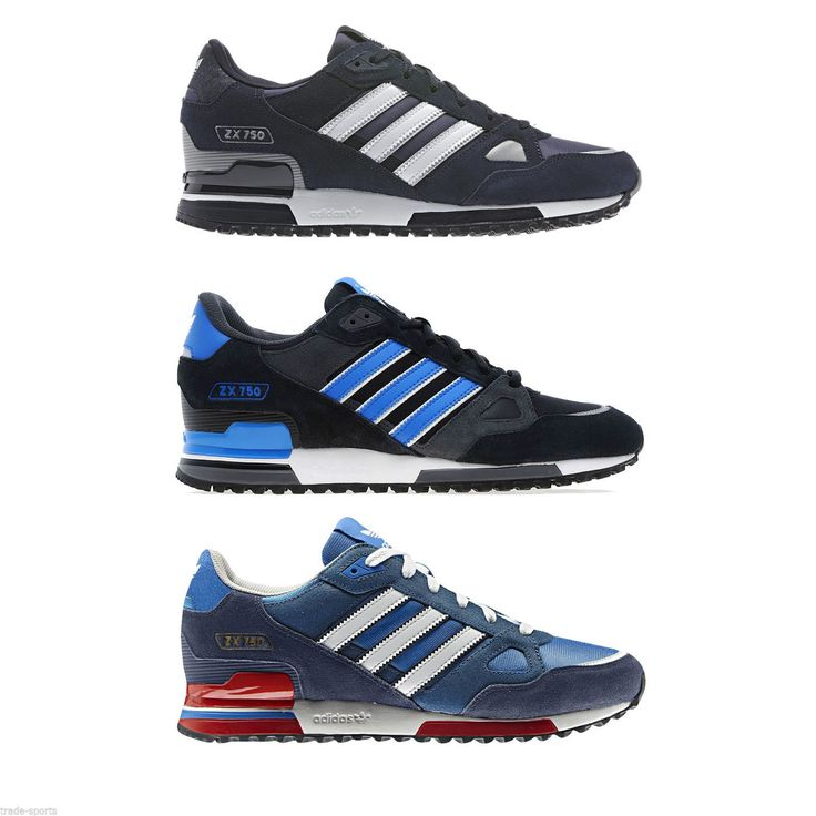 Adidas originals zx 750 mens running #trainers blue #black navy sneakers  #shoes n
