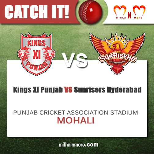 Who's Your favorite for the Day? #KingsXIPunjab or #SunrisersHyderabad? Catch the live action at Punjab Cricket Association Stadium, Mohali