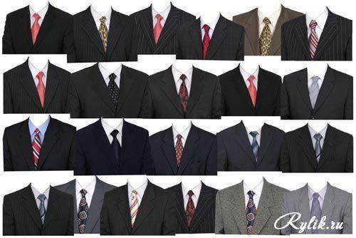 Мужской шаблон для фотошопа - Грузинский национальный костюм