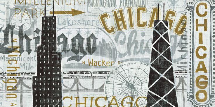 Hey Chicago Vintage - Mural de pared y papel tapiz fotográfico - Photowall