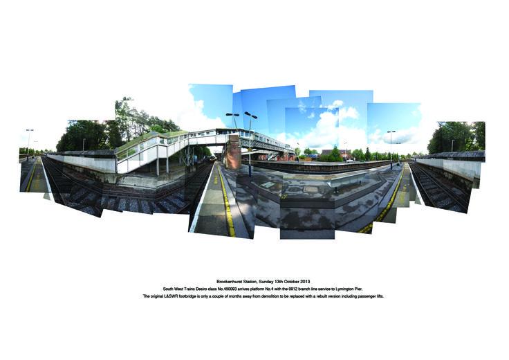 Brockenhurst Railway Station L&SWR footbridge