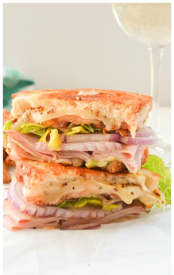Loaded Sharp Cheddar and Black Forest Ham Grilled Cheese With Bacon and all the fixings! #SundaySupper