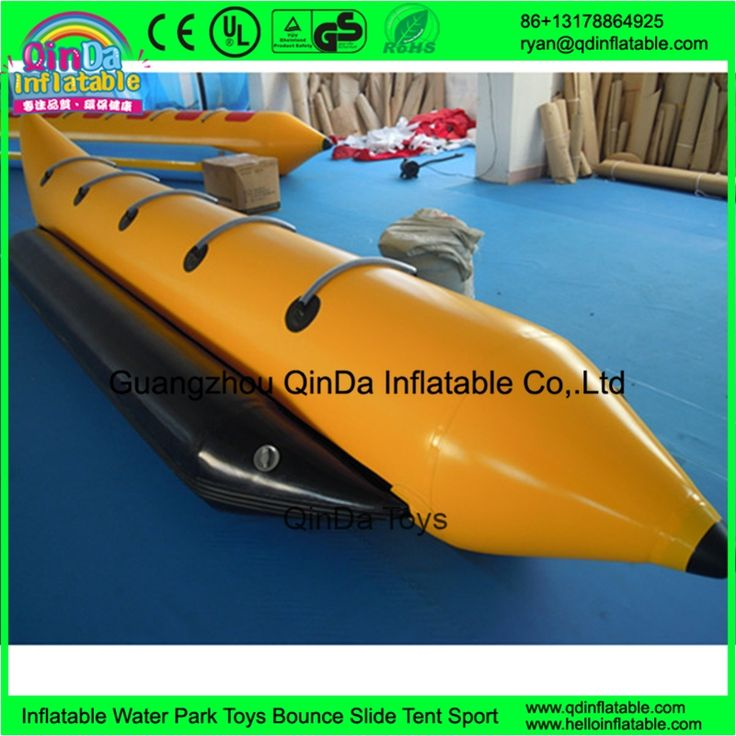 380.00$  Watch now - http://alihmd.worldwells.pw/go.php?t=32637063521 - Guangzhou QinDa Cheap 0.9mm PVC inflatable banana boats, fly fish tube , rubber boat for sale