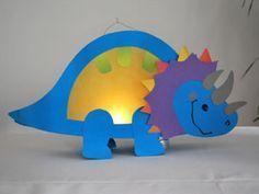 Idee voor het maken van een lampion - dinosaurus