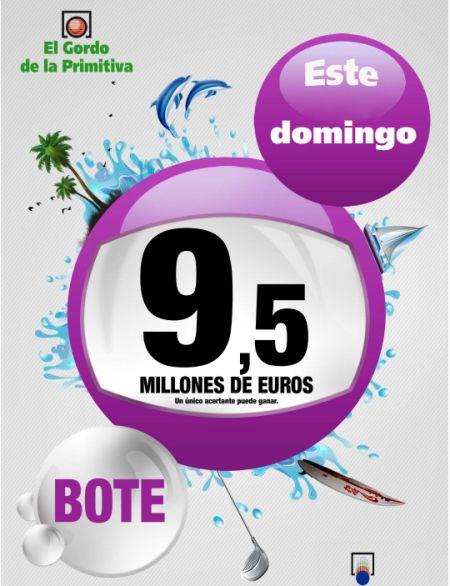 Gordo Primitiva, Bote, 9,5 Millones €, Domingo 22/12/2013