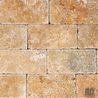 tuscan tumbled stone  subway tile- kitchen backsplash. longer tiles though