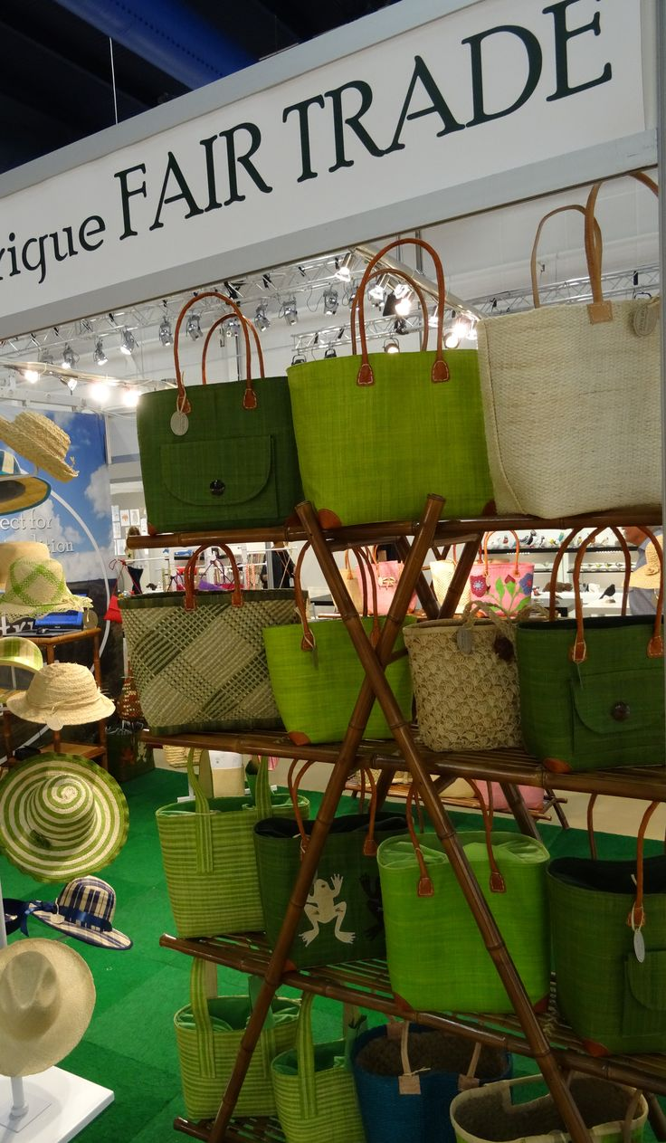 Fair Trade bags for green lifestyle. La Maison Afrique FAIR TRADE stand at Formex August 2016. #Formex #fairtrade #sustainablefashion