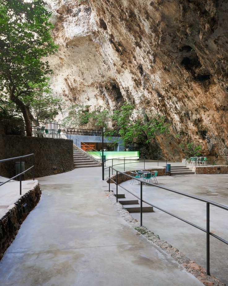 Bar in the Caves of Porto Cristo. Majorca. Spain | A2arquitectos | Archinect