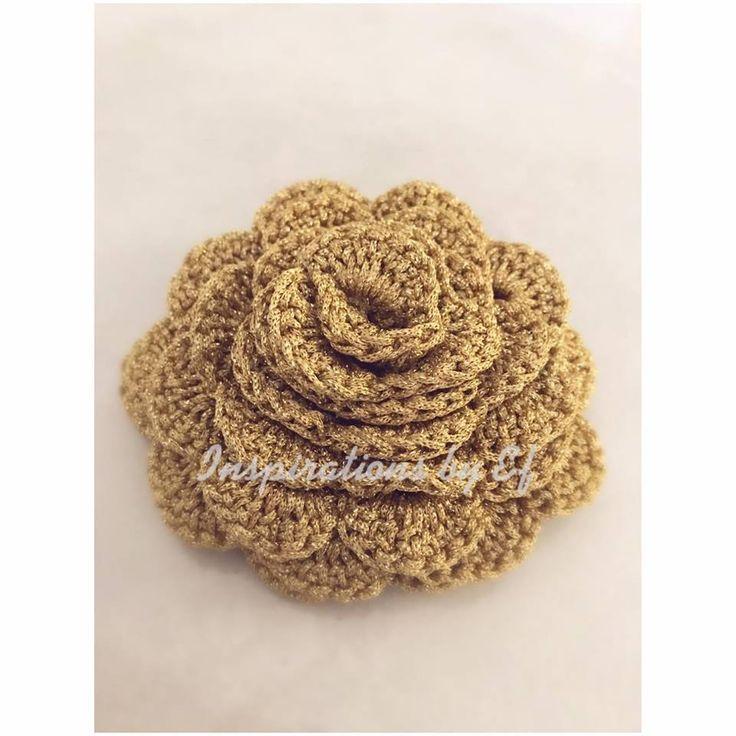 Ring bearer - χειροποίητο πλεκτό λουλούδι - handmade crochet rose..