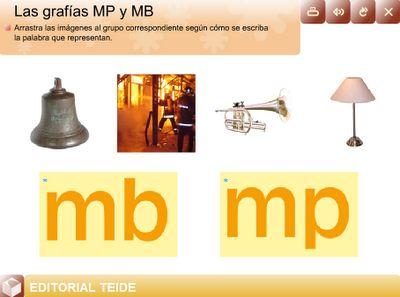 Ortograf a mp y mb regla ortogr fica y actividades for Mp mb scuola primaria