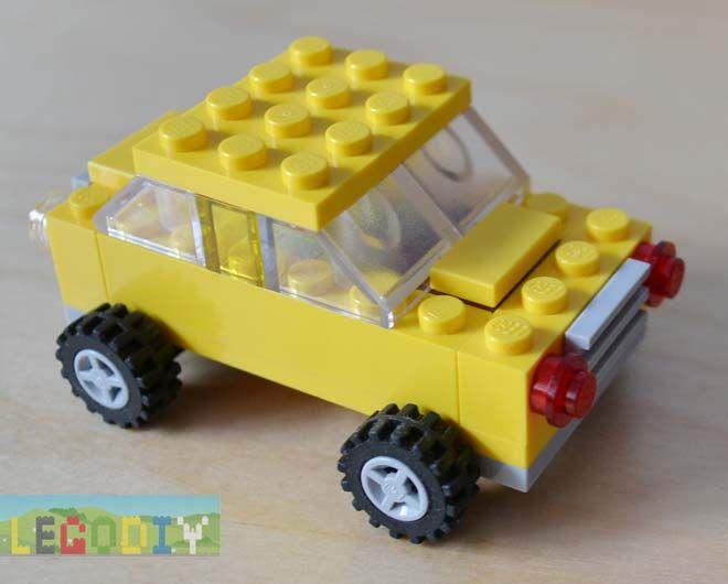 Lego Yellow Car From 10696 Lego Instructions Lego Cars