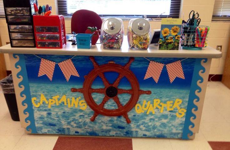 Teacher Desk Nautical Theme