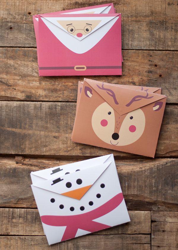 Sobres de Navidad para imprimir