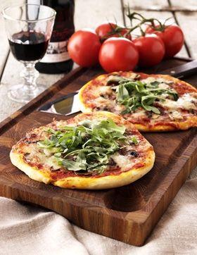 En lækker, sprød pizza