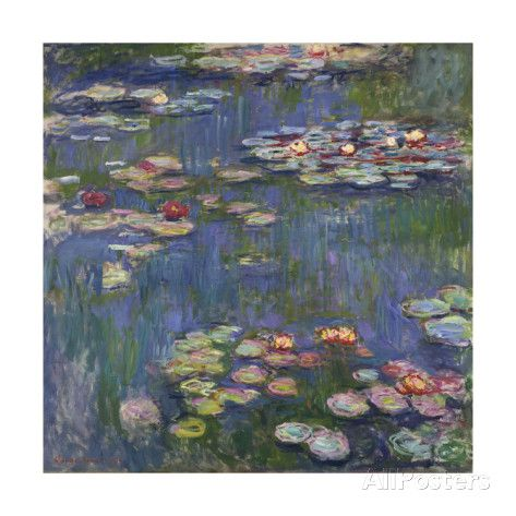 Water Lilies (Nymphéas), c.1916 Prints by Claude Monet at AllPosters.com