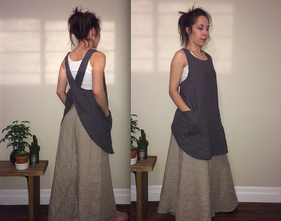 Linen Japanese Apron by MissesCountry on Etsy