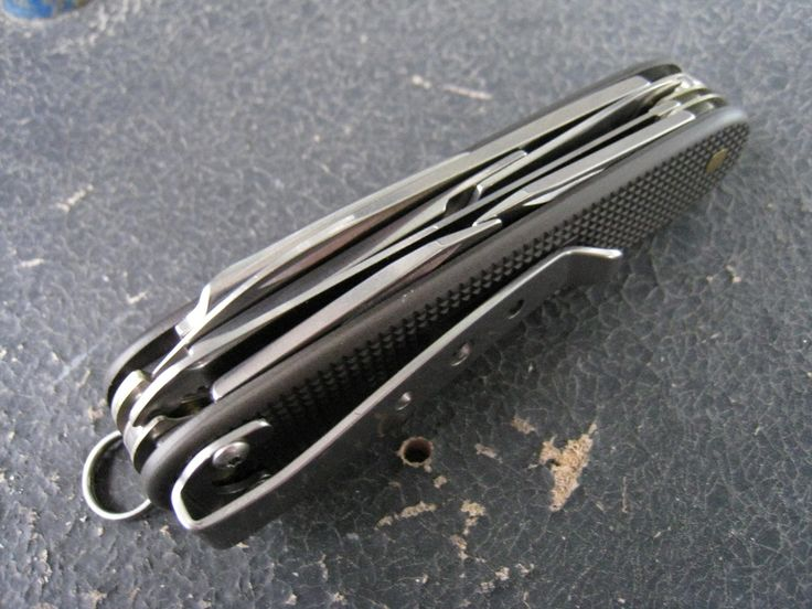 Victorinox Farmer with HAIII scales, scissors and pocket clip added