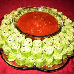 Mexican Cream Cheese Rollups Appetizer
