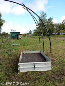 Darren constructed this garden bed in 2 days
