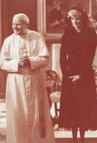 Diana & Pope John Paul 2 in Italy