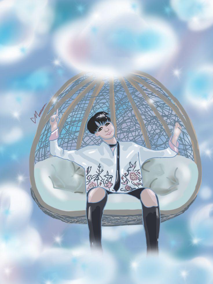 Suga Angel #HappySugaDay #Min Yoongie #Suga #bts #방탄 #fanart