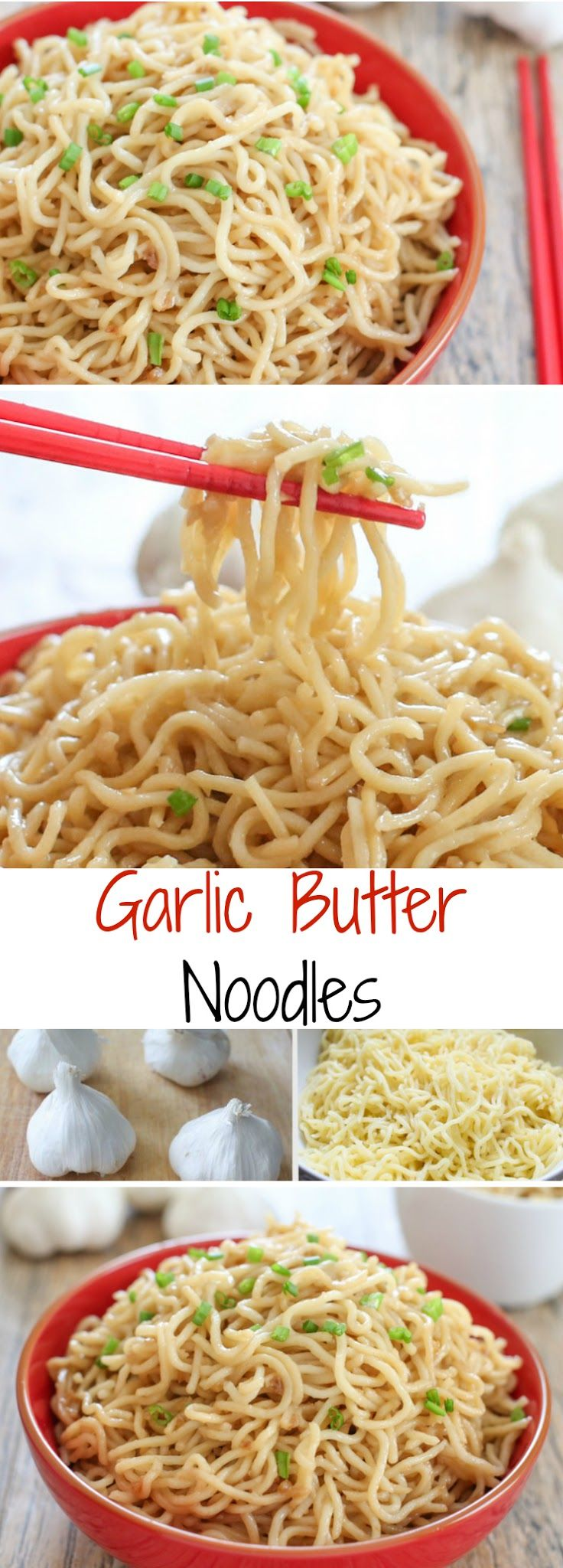 Garlic Butter Noodles. Tastes just like the famous ones from San Francisco! Via http://kirbiecravings.com/