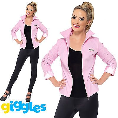 Deluxe pink ladies jacket #costume #grease #womens lady 50s fancy dress outfit,  View more on the LINK: http://www.zeppy.io/product/gb/2/201519073749/