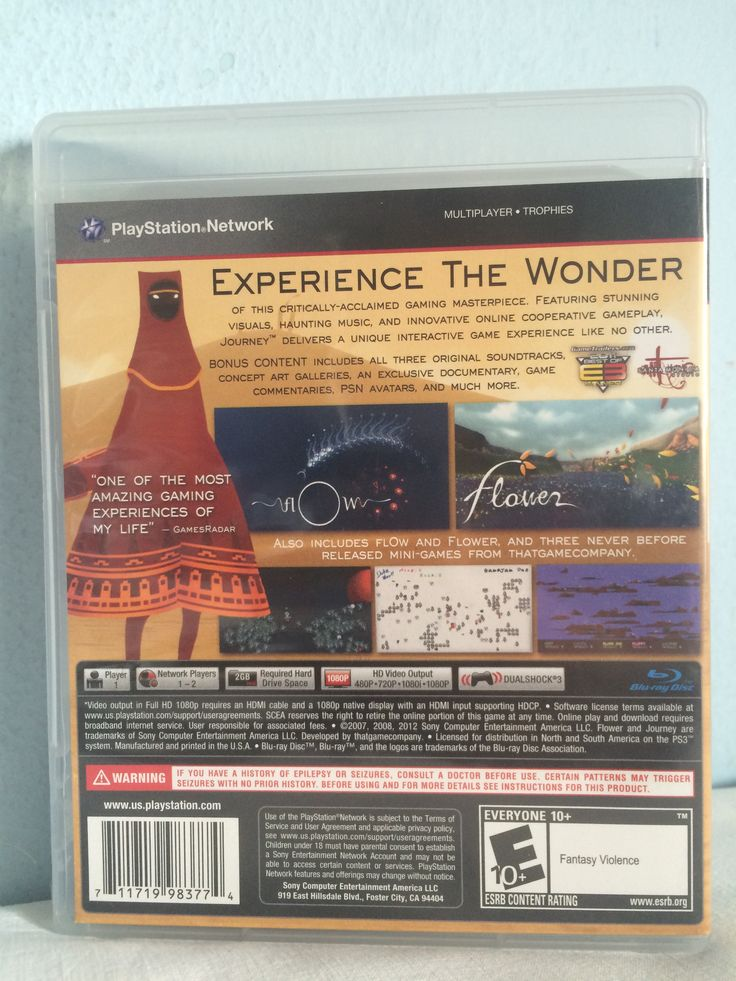 Journey Collector's Edition game behind.
