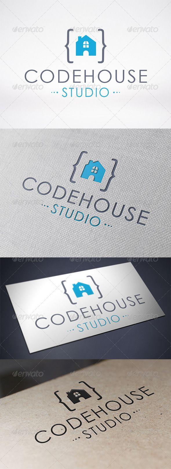 Code House Logo Template - Buildings Logo Templates