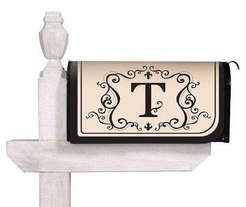 Magnetic Mailbox Cover with T Monogram by Evergreen Enterprises. $13.49. Includes a set of self-adhesive, reflective numbers. Fits all standard size mailboxes. Clings to your mailbox in a snap. Coated PVC design is backed with full surfact magnet. All-weather and fade resistant. Announce your home with elegance. These magnetic mailbox covers are printed with your beautiful and graceful initial. Includes a set of numbers to mark your address. Makes for a beautiful ...