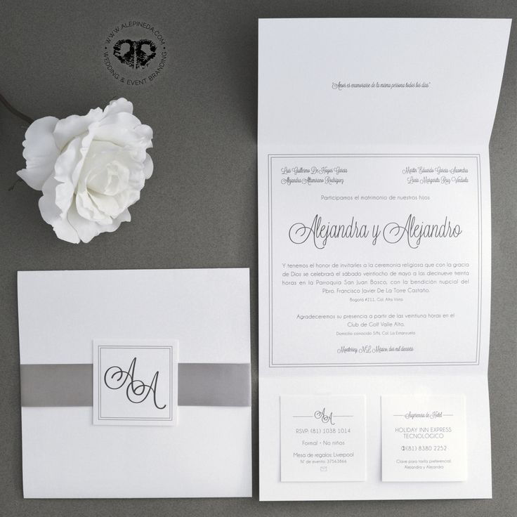 Square elegant classy simple modern wedding invitation