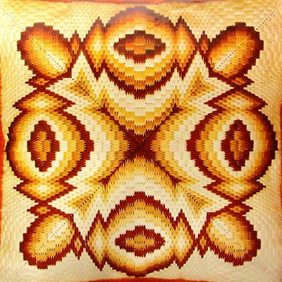 I found this vintage 4 way bargello needlepoint kit on eBay.