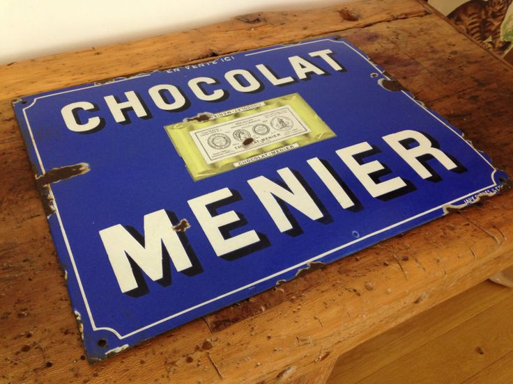 plaque maill e chocolat menier plaque maill e pinterest. Black Bedroom Furniture Sets. Home Design Ideas