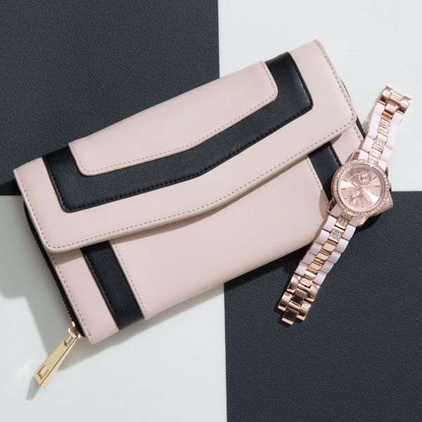 Joleen striped wallet at bebe
