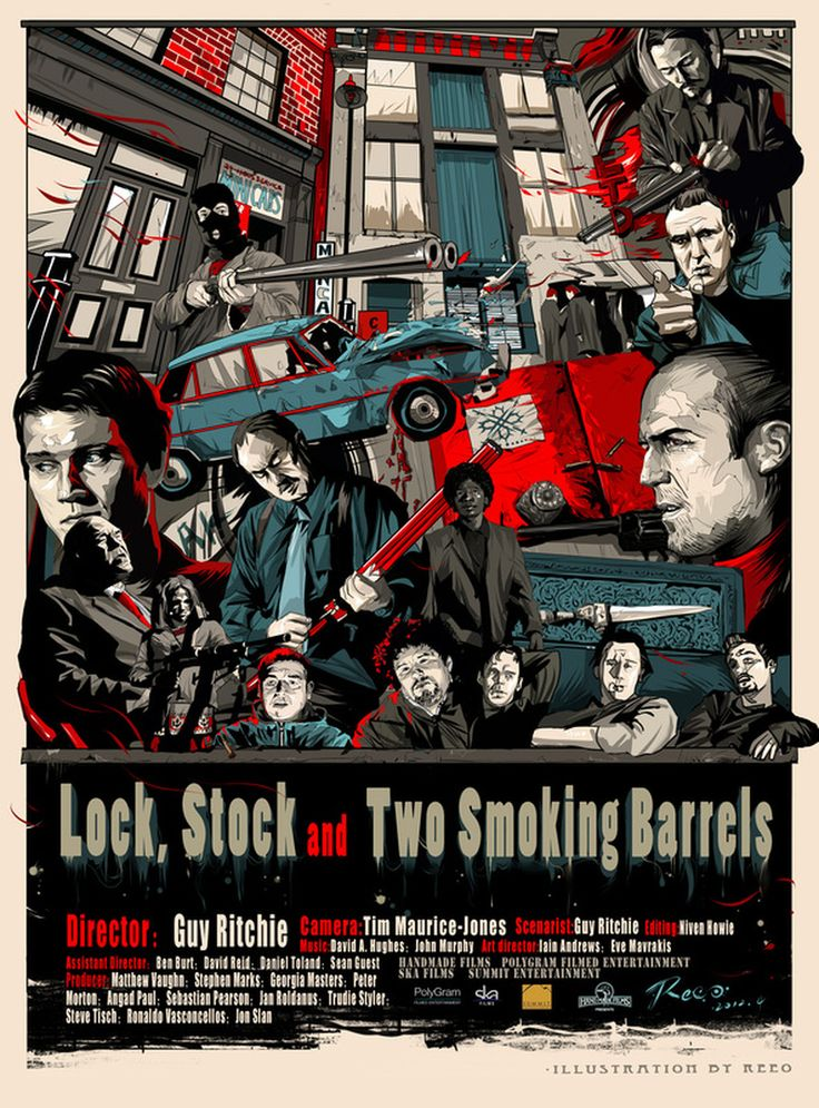 Lock Stock and Two Smoking Barrels (1998) - original creation by REEO ZERKOS #GangsterMovie #GangsterFlick