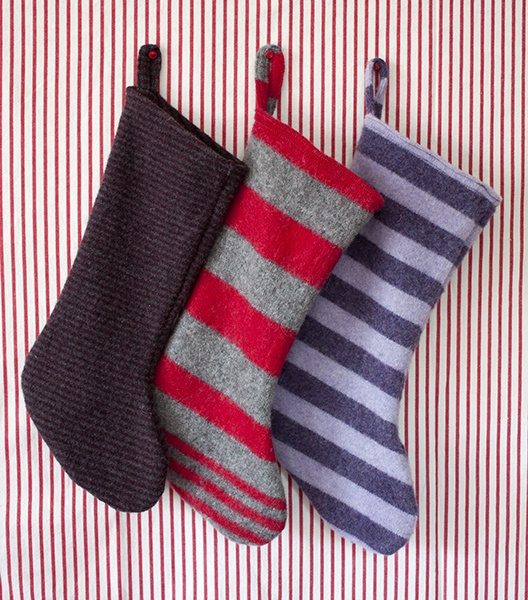 christmas stockings from felted sweaters