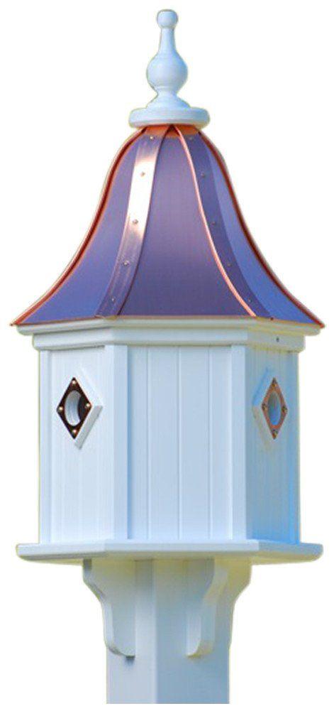 Copper Roof Birdhouse 28x12  3 Portals