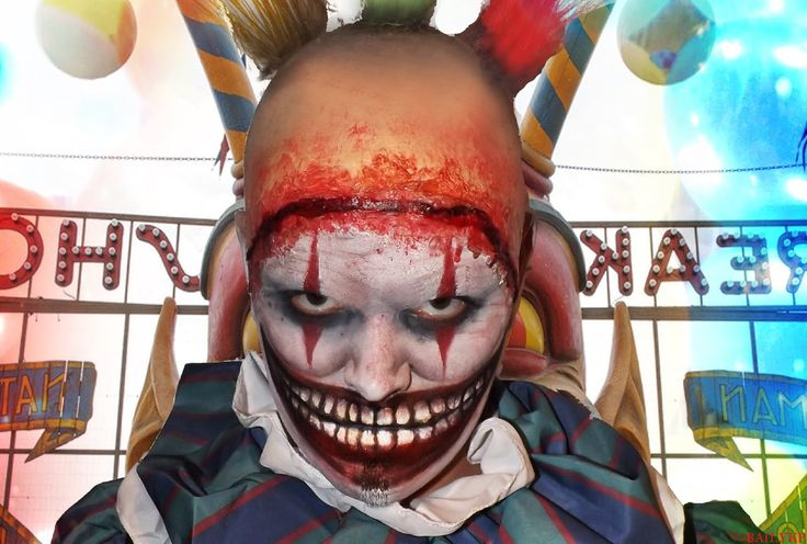 макияж клоуна, макияж клоуна в домашних условиях, макияж клоуна на хэллоуин