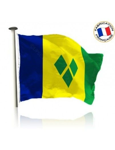 Drapeau Saint Vincent et les Grenadines Made In France by Manufêtes