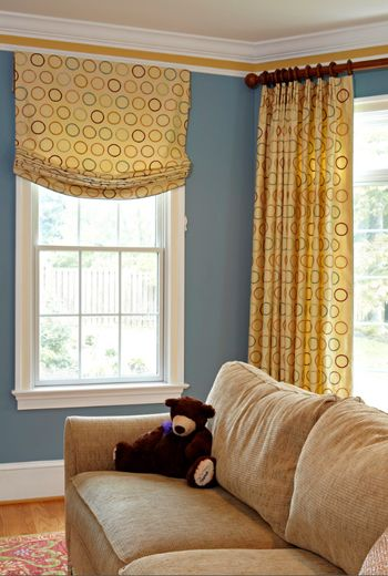 Color Of The Day Philipsburg Blue Inspiring Spaces Pinterest Slate Blue Walls Beige Sofa