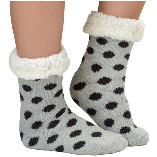 Women's Cozy Warm Slip Resistant Slipper Socks (98 SEK) ❤ liked on Polyvore featuring intimates, hosiery, socks, black, socks & hosiery, synthetic socks and silk socks #Socks&Hosiery