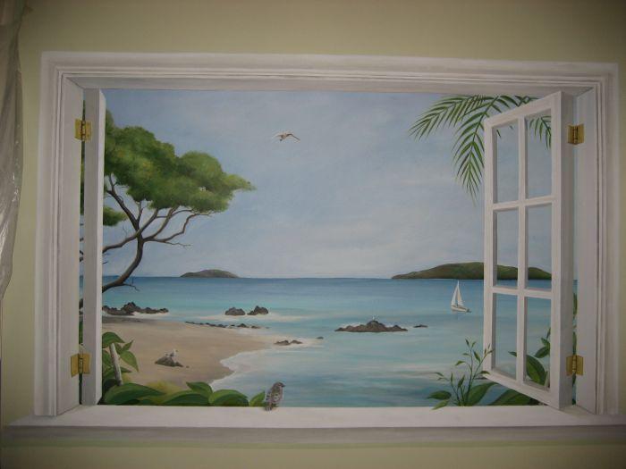 Les 131 meilleures images du tableau trompe l oeil sur pinterest peintures murales fen tres - Trompe l oeil peinture ...