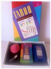 TABOO BOARD GAME - THE GAME OF UNSPEAKABLE FUN - FAMILY PARTY CLASSIC MB GAMES 1993 - COMPLETE
