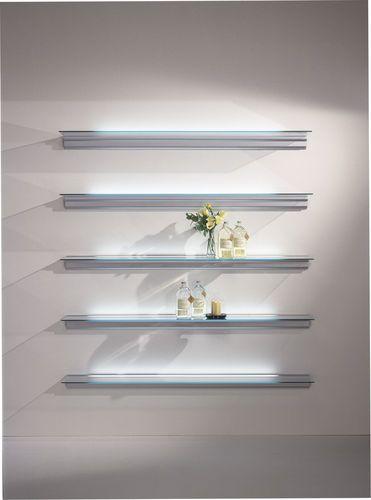 design luminous glass wall shelf - HIALINA shelving by Llus Clotet and  Oscar Tusquets - ArchiExpo
