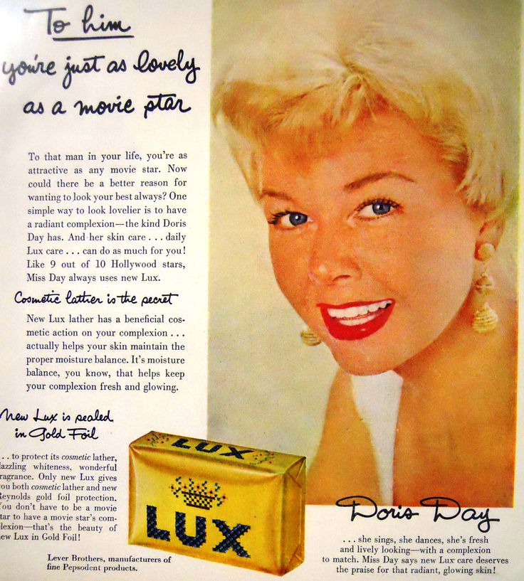 Retro Lux Soap Featuring Doris Day Magazine Advertisment