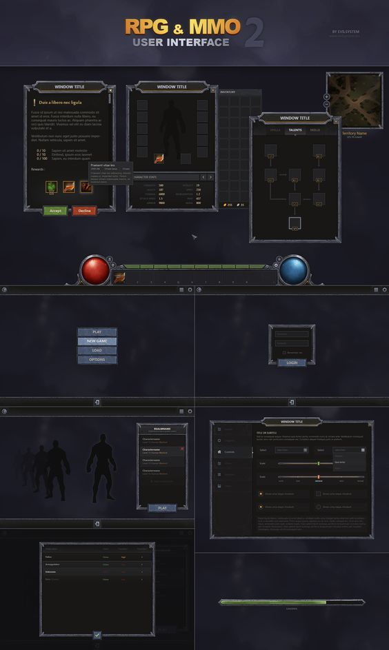 RPG and MMO UI 2 by Evil-S on DeviantArt: